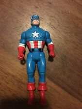 Vintage 1990 Captain America Marvel Action Figure Toy Biz Loose