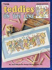 Cross Stitch Pattern Teddies On The Line Teddy Bears