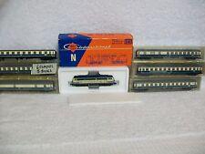 Ro Co International Diesel 2150 B Train - DB  & 6 Minitrix Coaches - N Scale