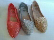 Jelly Ballerina Glitter Textured Flats (0 to 1/2 in.)B-C, Easos Geal