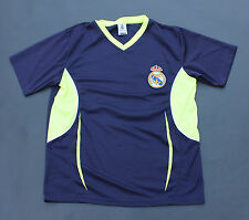 Real Madrid Soccer Jersey Dark Blue with Neon Green Accents Size S