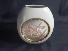 Chokin White Posy Vase - The Art of Chokin 24k Gold Edged -  Made in Japan