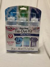 Tulip One Step Classic Tie-Dye Kit Dyes Up To 9 Projects Blue Green Turquoise