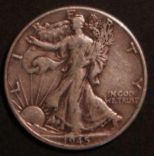 1945 Circulated Walking Liberty Half Dollar Coin