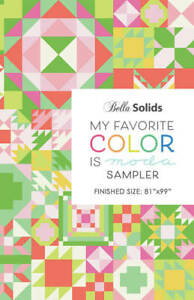 """MY FAVORITE COLOR IS MODA Project Sheet PS9900-21 - 81""""x99"""" Bella Solids Pattern"""