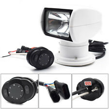 12V 100W Bulb Remote Control Spotlight SUV Car Marine Searchlight Round Panel