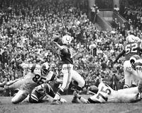 JOHNNY UNITAS Photo Picture BALTIMORE COLTS Vintage Football B&W Print #3 8x10