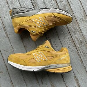 New Balance 990v4 size 10.5 Yellow Running Shoe M990QK4 Made In The USA
