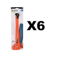 """Nite Ize Gear Tie Loopable 24"""" Orange Rubber Twist Tie With Loop (6-Pack of 2)"""