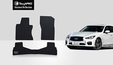 ToughPRO Heavy Duty Black Rubber Custom For 2014-2017 Infiniti Q50 Floor Mats