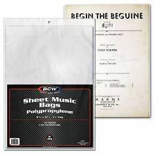 (100) BCW Sheet Music Bags w/ Flap For Closure - Protection, Display and Storage