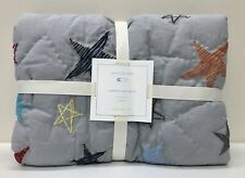 New Pottery Barn Kids Camden Star Embroidered Crib Toddler Quilt~Gray