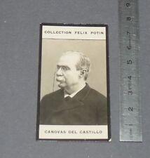 PHOTO IMAGE FELIX POTIN 1er ALBUM 1902 POLITIQUE ESPAGNE CANOVAS DEL CASTILLO
