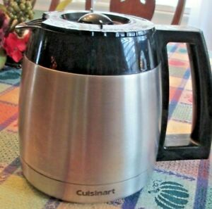 Cuisinart DGB-650 10 Cup Coffee Maker Stainless Thermal Carafe Replacement w/Lid