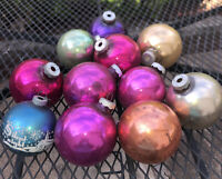 Vintage Mercury Glass Christmass Tree Ornaments Lot of 11 Shines Bright