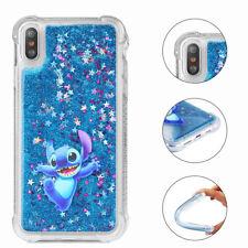 Cartoon Disney Glitter Quicksand Shockproof Case For iPhone 7 Stitch Pattern