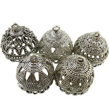 5X Mix Antique Heart Triangle Carve Filigree Pendant Silver(For Tassel Earring)