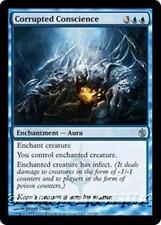 CORRUPTED CONSCIENCE Mirrodin Besieged MTG Blue Enchantment — Aura Unc