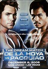 Oscar De La Hoya vs Manny Pacquiao/original MGM sur site de boxe Fight Poster