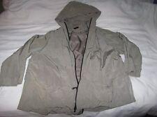 Hopsack Jacke mit Kapuze oliv Lagenlook Einheitsgröße