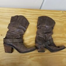 Coconuts Women's Brown Leather Boots Nelson 14564 11M Man Made Sole