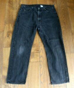"Men's Levi's 505 Black Denim Distressed Look Jeans Waist 40"" Leg 30"""