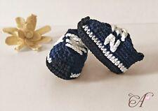Zapatos bebé crochet/ganchillo talla 8,5cm 3,34inch estilo New Balance 0-1 mes