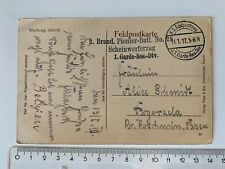 Feldpost-Karte 1917 Scheinwerferzug, Becelaires Flandern Belgien
