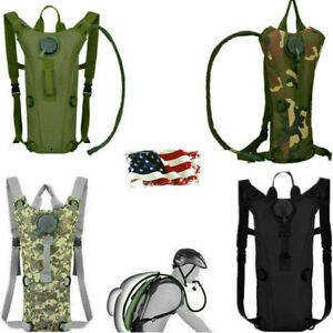 3L Water Bladder Bag Tactical Military Hiking Camping Hydration Backpack Outdoor