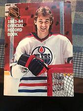 1983 1984 NHL National Hockey League Media Record Book Wayne Gretzky on cover