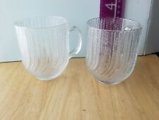 Pair (2) ARCOROC USA SEABREEZE water, tea, coffee  cups mugs 8 oz