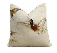 """John Lewis Country Ducks Natural Fabric 18"""" x 18"""" (45cm X 45cm) Cushion Cover"""
