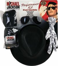 Michael Jackson Costume Accessory Kit With Wig Hat Glove & Glasses New Gift