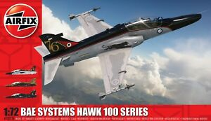 Brand New Airfix 1:72nd Scale BAe Systems Hawk 100 Series Model Kit.