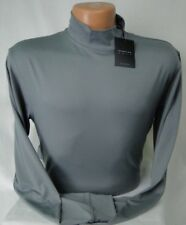 Dunning Golf L/S Mock Shirt in Charcoal PGA Tour Quality MSRP $89 NWT Cool! - SM