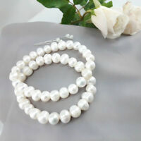 Stretching Freshwater Pearl Bracelet - Natural White Pearl