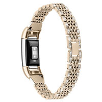 Rhinestone bling Watch Band Replacement Wristband Bracelet for Fitbit Charge 2