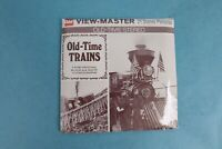 VINTAGE VIEW-MASTER 3D REEL PACKET B794 OLD TIME TRAINS IN BLACK & WHITE SEALED