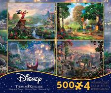 THOMAS KINKADE DISNEY DREAMS COLLECTION MULTI-PACK 4 IN 1 PUZZLE 500 PC FANTASIA