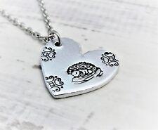 Hedgehog Heart, Heart Necklace. Hedgehog Pendant, Wildlife Gifts and Jewellery