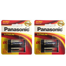 2 x Panasonic 2CR5 Lithium Photo Battery, DL45, KL2CR5, 5032LC Retail Packaging
