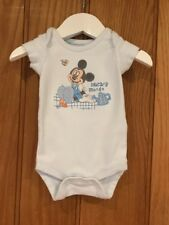 Disney  Store  Mickey Mouse Lovely Baby Blue Vest Age New Born 100% Cotton