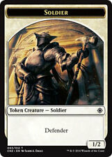 4 x Soldier Token Defender 003/012 Conspiracy Take the Crown MTG MINT UNPLAYED