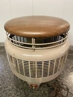 Vintage Dayton Hassock Round Floor Fan Antique USA Metal Foot Stool-Works Great