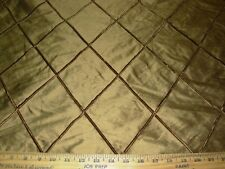 "~10 YDS~100% SILK~STROHEIM&ROMANN~""LOMBARD""COCOA~VELVET DIAMOND FABRIC FOR LESS~"
