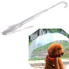 New Waterproof Transparent Pet Umbrella Dog Walking Built-in Leash for Dog Puppy