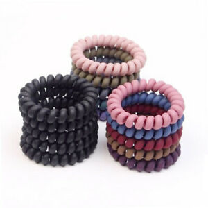 Women Ladies Hair Bands Elastic Rubber Telephone Wire Hair Ties Rope Accessories