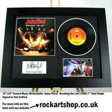 More details for judas priest signed rob halford breaking the law autograph 7