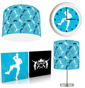 FORTNITE choose from Lampshade , Stick Lamp , Wall Art , Wall clock or Bundle