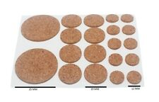 Assorted Cork Pads Self Adhesive 20 Per Sheet 2mm Thick 200 Sheets